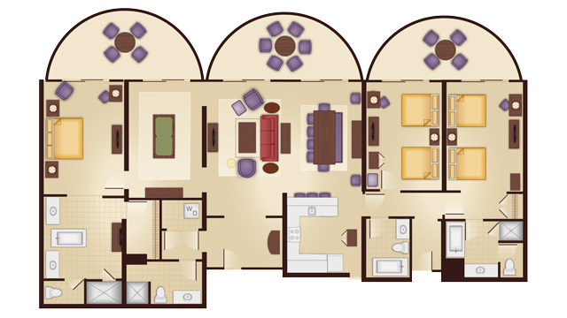 Walt disney world deluxe villa accommodations dadfordisney - 3 bedroom grand villa disney animal kingdom ...