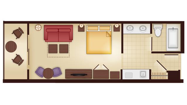 Walt Disney World Deluxe Villa Accommodations on Animal Kingdom Villas Floor Plan