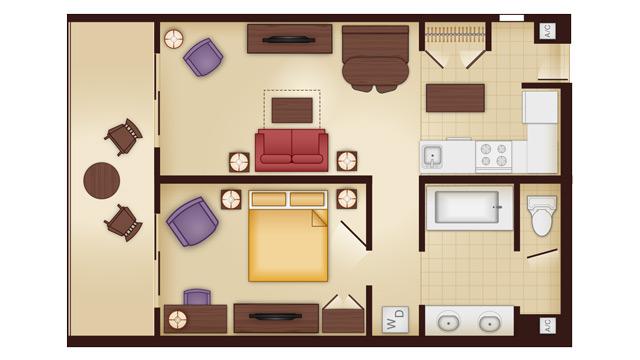 Animal Kingdom 2 Bedroom Villa Floor Plan: Walt Disney World Deluxe Villa Accommodations