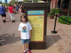 2013 Argentina Menu