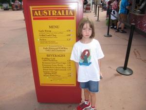 2013 Australia Menu