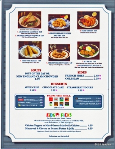 Columbia Harbor Quick Service Menu