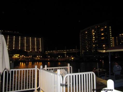 Contemporary and Bay Lake Tower at night