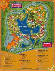 Coronado Springs Map