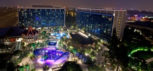 Disneyland hotel and pools