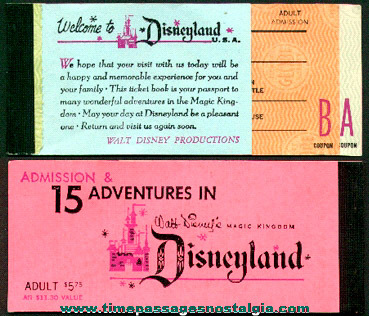 Old Disneyland A E Tickets