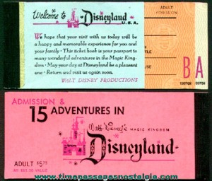 Old Disneyland A-E tickets