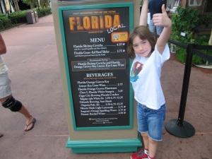 2013 Florida Menu