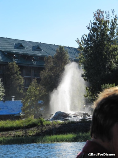 Geyser just outside the pool at Wilderness Lodge