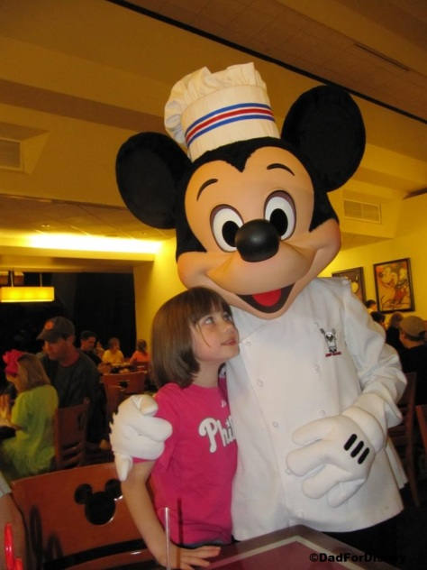 My daughter with Chef Mickey