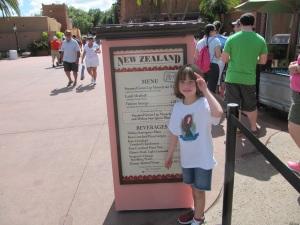 2013 New Zealand Menu