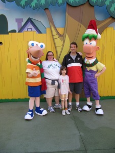 The family with Phineas and Ferb