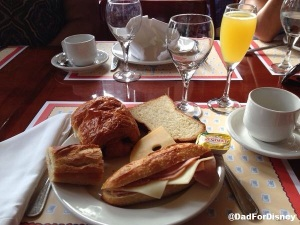 A full plate of French Breakfast