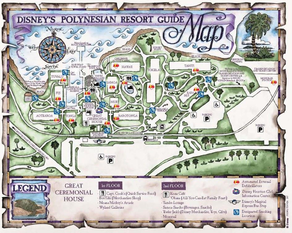 Polynesian Resort Map | dadfordisney