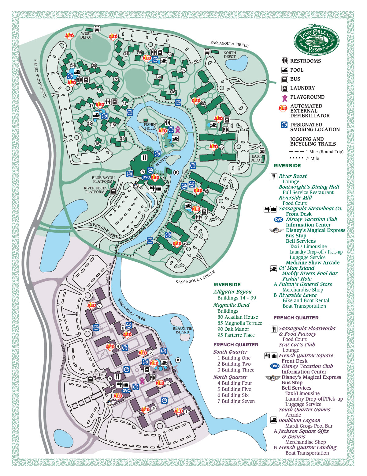 Running Trails at Walt Disney World Resorts | dadfordisney