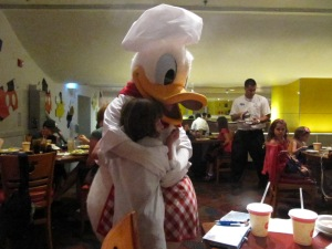 And with Donald Duck at Chef Mickey's