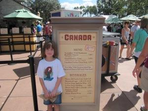 2013 Canada Menu