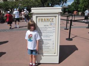 2013 France Menu