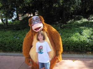 My daughter with King Louie from Jungle Book