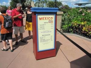 2013 Mexico Menu