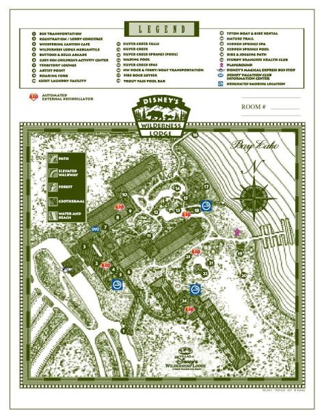 Wilderness Lodge Maps