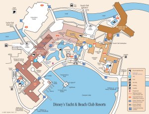 Beach and Yacht Club Map