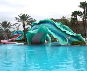 Doubloon Lagoon slide