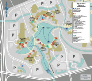 EPCOT Boat Map