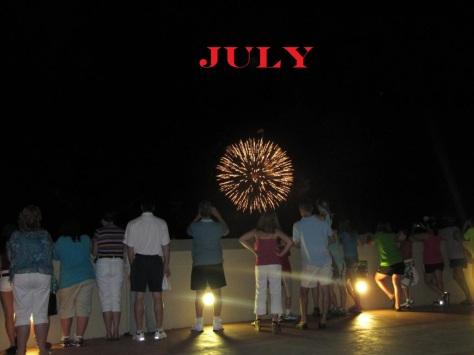 Bay Lake Tower Fireworks #1