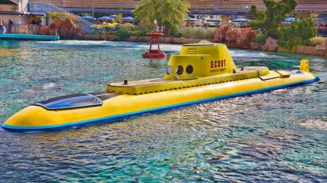 One of the Finding Nemo Submarine Voyage boats