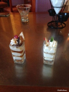 Dulce de Leche (left) Key Lime (right) Dessert Shots