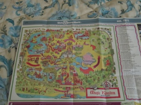 Opening day map of the Magic Kingdom