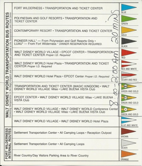 1984 Bus Schedule #2