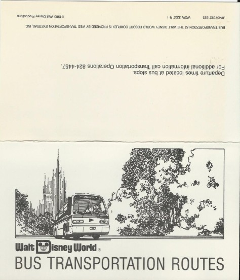 1984 Bus Transportation Schedule #1