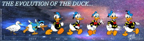 Donald Duck through the years
