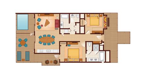 Polynesian Bungalow Floorplan #2