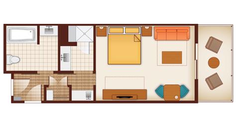 Polynesian Studio Floorplan #2