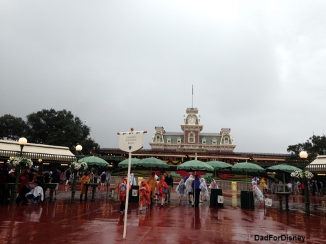 Wet day in the parks