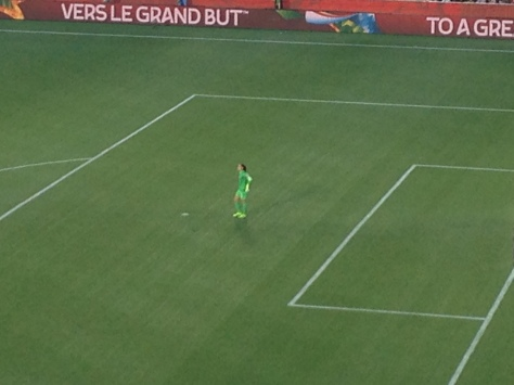 Hope Solo, second half USA-China 2015 Womens World Cup quarterfinal