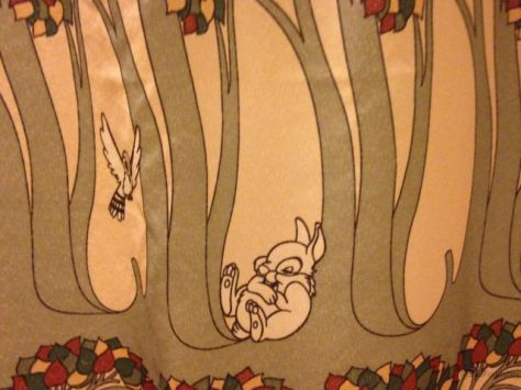 Thumper Hangs Out on the Grand Californian Shower Curtain